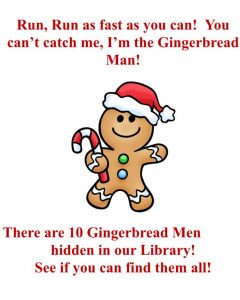 Gingerbread hunt poster